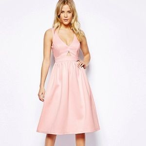Asos Pink Dress with open back